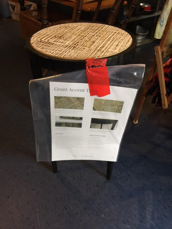 Iron base Pottery Barn table now $50